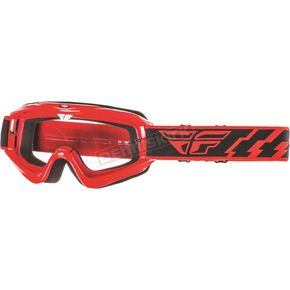 Fly Racing Red Focus Goggles - 37-3002