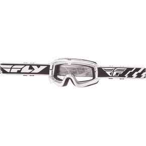 Fly Racing Youth White Focus Goggles - 37-3013
