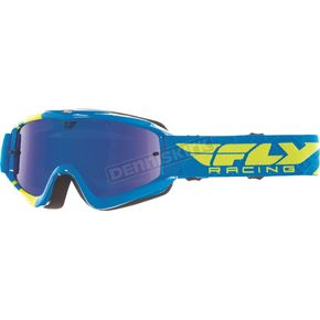 Fly Racing Blue/Hi-Vis Zone Goggles - 37-3024