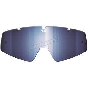 Fly Racing Chrome/Blue Replacement Lens for Zone/Focus Goggles - 37-2403