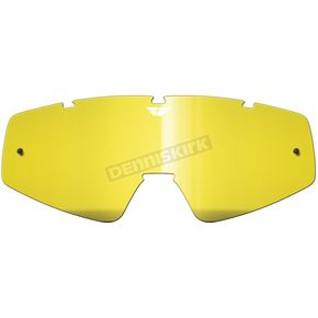 Fly Racing Yellow Replacement Lens for Zone/Focus Goggles - 37-2401