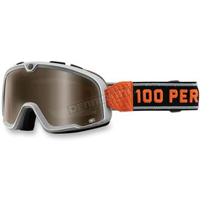 100% Silver Barstow Classic Goggle w/Smoke Lens - 50002-180-02