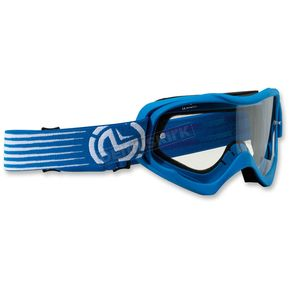 Moose Youth Blue/White Qualifier Slash Goggles - 2601-2126