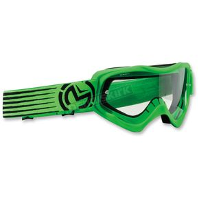 Moose Youth Green/Black Qualifier Slash Goggles - 2601-2127