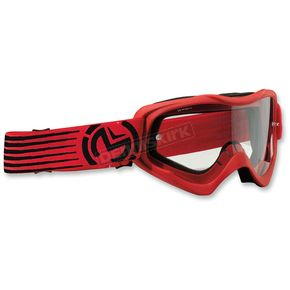 Moose Youth Red/Black Qualifier Slash Goggles - 2601-2129