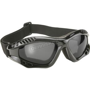 Kickstart Eyewear Black Turbo Goggles w/Polarized Gray Lens - 4009