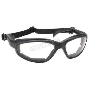 Kickstart Eyewear Black Freedom Sunglasses w/Clear Lens - 4315