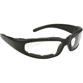 Kickstart Eyewear Black Rally Sunglasses w/Clear Lens - 43025
