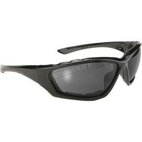 Kickstart Eyewear Black Sunglasses w/Smoke Lens - 4301