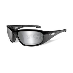 Wiley X Gloss Black Boss Climate Control Sunglasses w/Smoke Gray Lens - CCBOS01