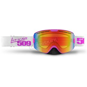 509 Pink Kingpin Goggles w/Fire Mirror/Clear Tint Lens - 509-KINGOG-17-PI