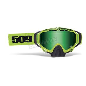 509 Lime Sinister X5 Goggles w/Green Mirror/Yellow Tint Lens - 509-X5GOG-15-LI