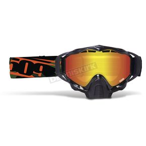 509 Orange Camo Sinister X5 Goggles w/Fire Mirror/Rose Tint Lens - 509-X5GOG-17-OC