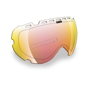 509 Fire Mirror/Clear Replacement Lens for Aviator Goggles - 509-AVILEN-13-FC