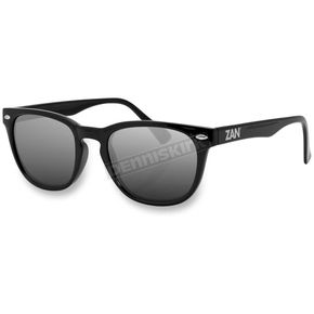Zan Headgear Gloss Black NVS Sunglasses w/Smoke Lens - EZNV01