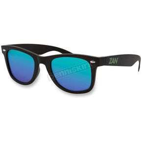 Zan Headgear Matte Black Winna Sunglasses w/Green Mirrored Lens - EZWA01