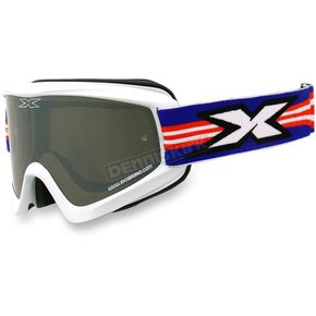 EKS Brand White GOX Flat Out Goggles w/Mirror Lens - 067-10375