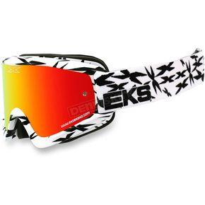 EKS Brand White/Black GOX Scatter X Goggles w/Red Mirror Lens - 067-10620