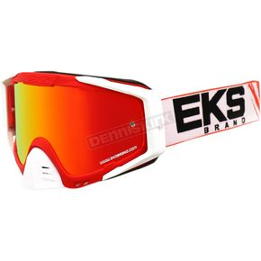EKS Brand Red/White/Black GOX EDS-S Goggles - 067-50135