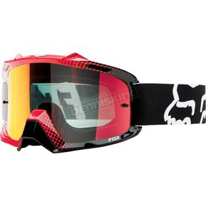 Fox White/Red Spark Air Space 360 Race Goggles - 06334-911-OS