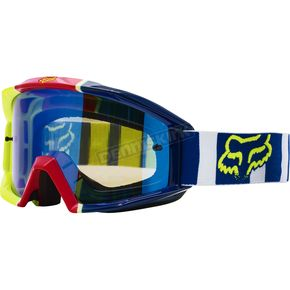Fox Navy/White Main Falcon Goggles - 18434-045-NS