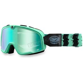 100% Cyan Barstow Classic Goggles w/Blue Lens - 50002-184-02