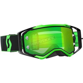 Scott Black/Fluorescent Green Prospect Goggles w/Green Chrome Lens - 246428-5401279