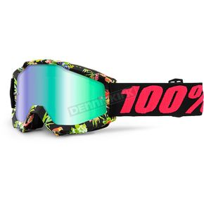 100% Accuri Chapter 11  Goggles w/Green Mirror Anti-Fog Lens+Extra Clear Lens - 50210-209-02