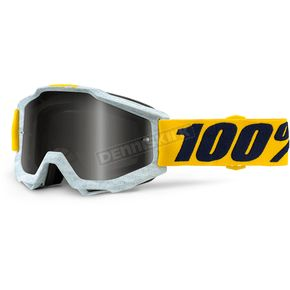 100% Accuri Athleto Goggles w/Silver Mirror Anti-Fog Lens+Extra Clear Lens - 50210-210-02