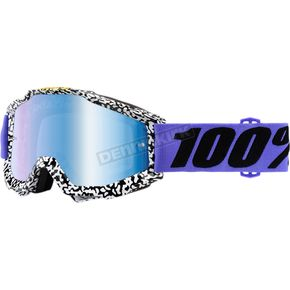 100% Accuri Brentwood Goggles w/Mirror Anti-Fog Lens+Extra Clear Lens - 50210-211-02