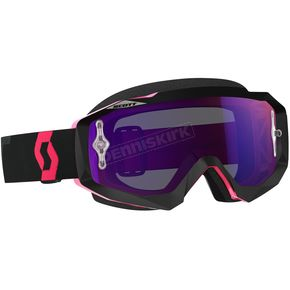 Scott Black/Fluorescent Pink Hustle MX Goggles w/Purple Chrome Lens - 246430-5403281