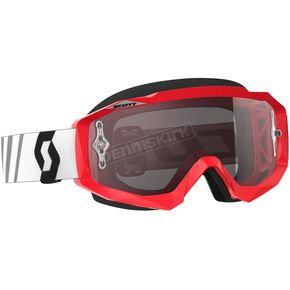 Scott Red/Black Hustle MX Goggles w/Silver Chrome Lens - 246430-1018269
