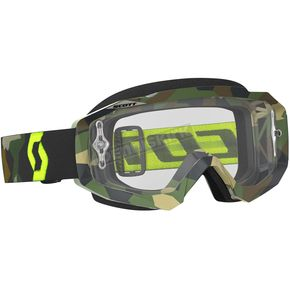Scott Gray/Fluorescent Yellow Hustle MX Goggles w/Clear Lens - 246430-5409113