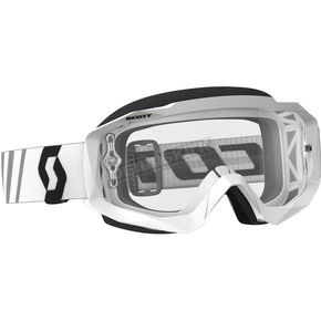 Scott White/Black Hustle MX Goggles w/Clear Lens - 246430-1035113