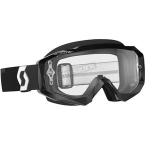 Scott Black Hustle MX Goggles w/Clear Lens - 246430-0001113