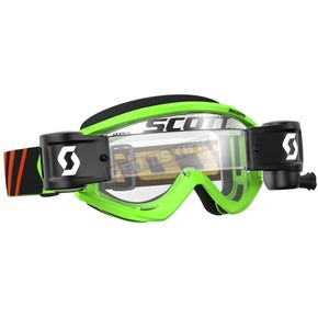Scott Black/Fluorescent Green Recoil XI WFS Goggles w/Clear Lens - 246486-5401113