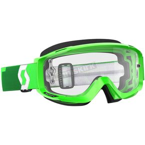 Scott Fluorescent Green Split OTG Goggles w/Clear Lens - 246433-5407113