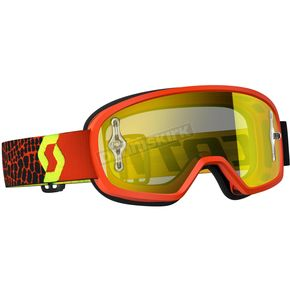 Scott Youth Black/Fluorescent Yellow Buzz Goggles w/Yellow Chrome Lens - 246435-5405289
