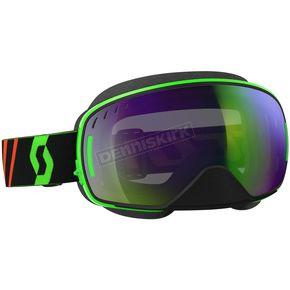 Scott Black/Fluorescent Green LCG Snowcross Goggles w/Green Chrome Lens - 246437-5401309