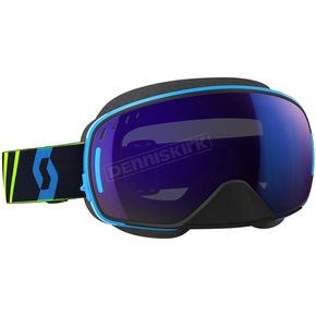 Scott Blue/Yellow LCG Snowcross Goggles w/Blue Chrome Lens - 246437-1054300