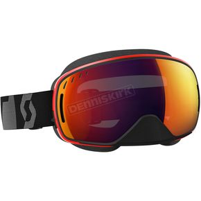 Scott Black/Red LCG Snowcross Goggles w/Red Chrome Lens - 246437-1042308