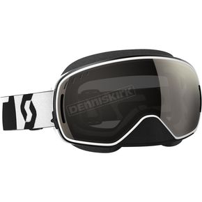 Scott Black/White LCG Snowcross Goggles w/Black Chrome Lens - 246437-1007299