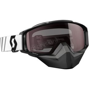 Scott Black Tyrant Snowcross Goggles w/Silver Chrome Lens - 246438-0001313