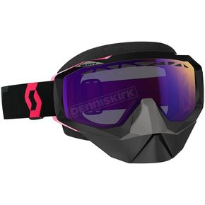 Scott Black/Fluorescent Pink Hustle Snowcross Goggles w/Purple Chrome Lens - 246439-5403316