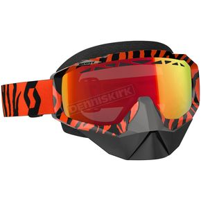 Scott Black/Fluorescent Orange Hustle Snowcross Goggles w/Red Chrome Lens - 246439-5402312