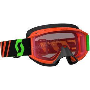 Scott Youth Fluorescent Orange 89Si Snowcross Goggles w/Rose Lens - 246441-5265108