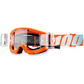 100% Orange/Blue Strata Junior Goggles - 50520-006-02