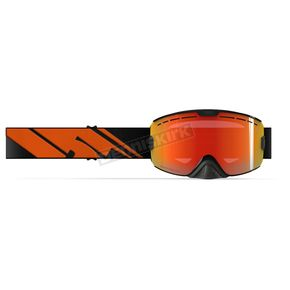 509 Black Fire Kingpin Goggles w/Photochromatic Orange to Blue Fire Mirror Lens - 509-KINGOG-18-BF