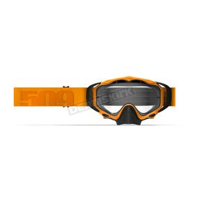 509 Neon Orange Snocross Sinister X5 Goggles w/Clear Tint Lens with Tearoffs - 509-X5GOG-18-NO