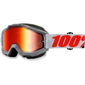 100% Accuri Solberg Snow Goggle w/Dual Mirror Red Lens - 50213-229-02